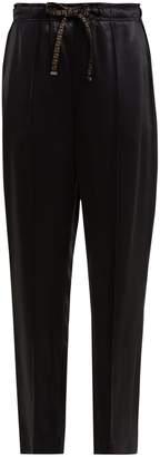 Fendi Logo-drawstring satin trousers