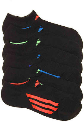 adidas Cushioned Stain Resistant Youth No Show Socks - 6 Pack - Boy's