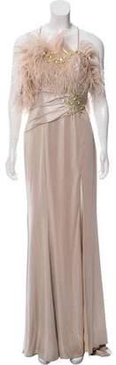 Terani Couture Embellished Metallic Dress w/ Tags