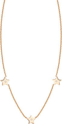 Ariana Rabbani 14K Rose Gold Diamond Three Stars Necklace