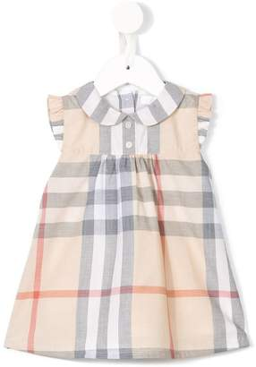 Burberry Washed Check Cotton Dress