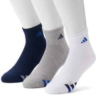 quality design d5acb 97b3a adidas 3-Pack Climalite Cushioned Performance Quarter Socks - Men