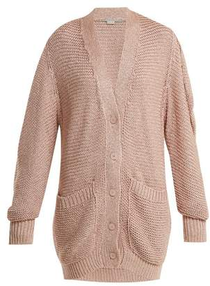 Stella McCartney Oversized Chunky Knit Cardigan - Womens - Light Pink