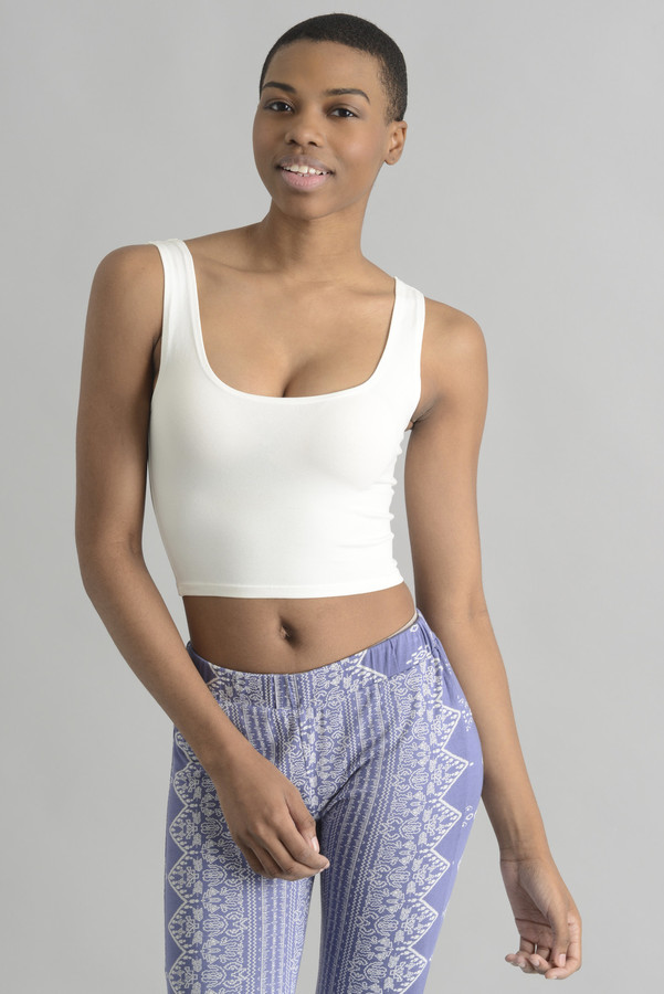 Sady & Lu Fitted Crop Tank Top