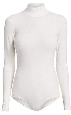 Alaà ̄a Women's Knit Turtleneck Bodysuit