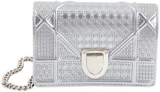6eb548795a9c Christian Dior Diorama Silver Leather Clutch Bag