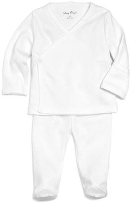 Kissy Kissy Unisex Pointelle Take Me Home Shirt & Footie Pants Set - Baby
