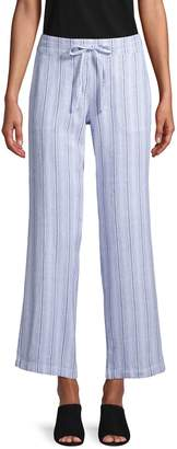 Alexander Jordan Striped Wide-Leg Drawstring Pants