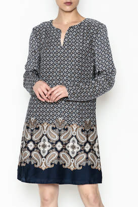 Paige Charlie Paisley Border Dress