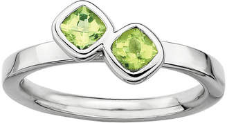JCPenney FINE JEWELRY Personally Stackable Sterling Silver Genuine Peridot Ring