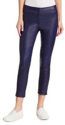 Skinny Crop Bristol Leather Pants