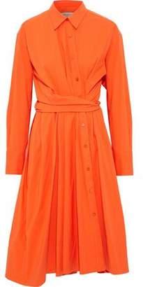 Emilio Pucci Wrap-Effect Stretch Cotton-Poplin Shirt Dress