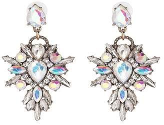 Suzanna Dai Rhinestone Drop Earrings
