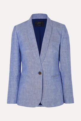 J.Crew Parke Linen-blend Blazer - Blue