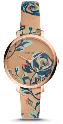 Fossil Jacqueline Three-Hand Multi-Colored Leather Watch