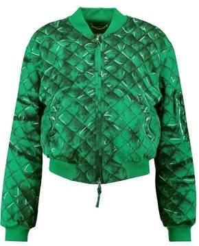 Moschino Printed Crepe Bomber Jacket