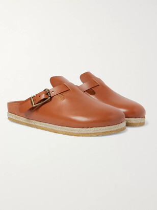 Yuketen Bostonian Leather Sandals - Men - Brown