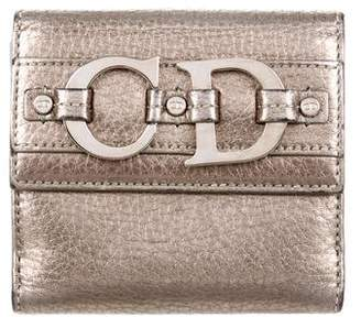 Christian Dior Metallic Leather Wallet