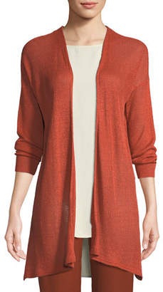 Eileen Fisher Organic Linen/Tencel Open Cardigan, Petite