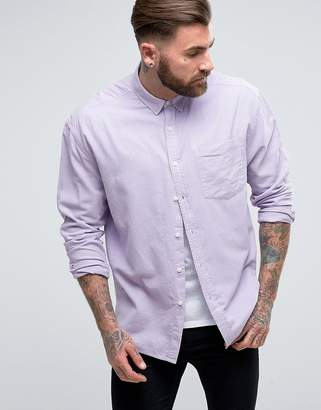 Asos Oversized Oxford In Lilac