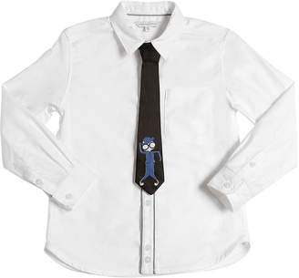 Little Marc Jacobs Cotton Oxford Shirt & Satin Tie