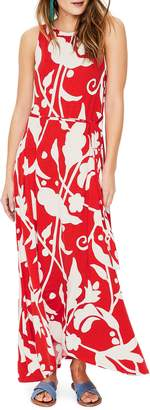 Boden Delphine Tie Waist Sleeveless Maxi Dress