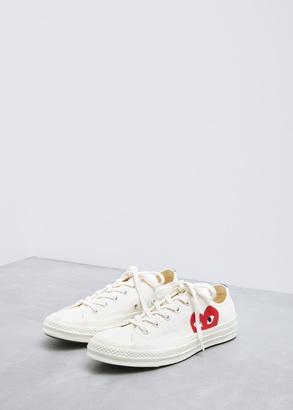Comme des Garcons PLAY beige converse chuck taylor low-top $125 thestylecure.com