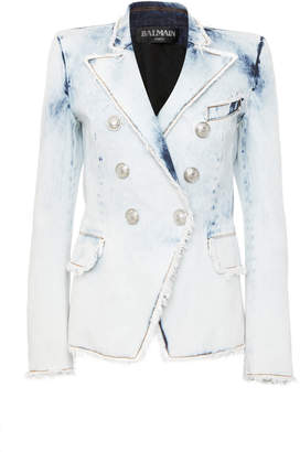 fcf3275c5c8e Balmain Women s Denim Jackets - ShopStyle