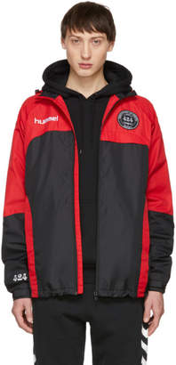 424 Black and Red Hummel Edition Daddy Micro Zip Jacket