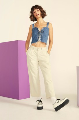 Nasty Gal Vintage Straight Off Twill Pants