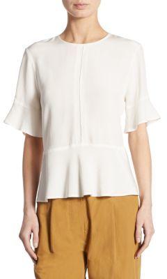 DKNY Short Sleeve Peplum Top
