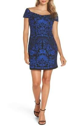 Foxiedox Betina Embroidered Body-Con Dress