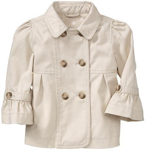 Gap Ruffle trench coat