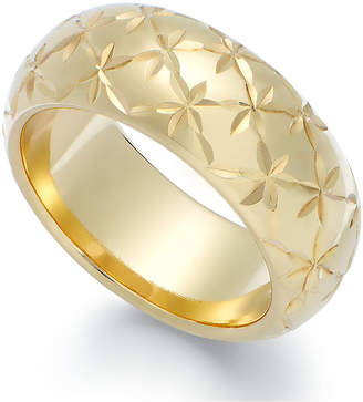 Signature Gold Diamond-Cut Star Ring in 14k Gold over Resin
