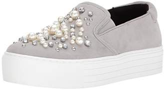 Kenneth Cole New York Women's Ashby Pearl Platform Slip Faux Jewels Sneaker