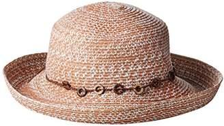San Diego Hat Company Women's 3-Inch Brim Ultrabraid Kettle-Brim Sun Hat