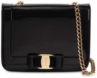 Salvatore Ferragamo Small Vara Rainbow Patent Leather Bag
