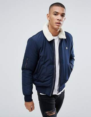 Le Breve Aviator Jacket with Fleece Collar