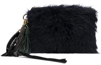 Sacai fluffy clutch bag