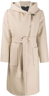 Fay hooded shawl coat