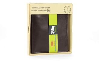 Montauk Leather Club Men's Classic RFID Signal Blocking Wallet