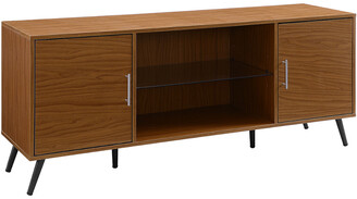Mid-Century MODERN Hewson 60In Wood Tv Stand Console