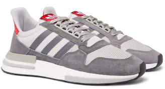 adidas Zx 500 Suede, Mesh And Leather Sneakers