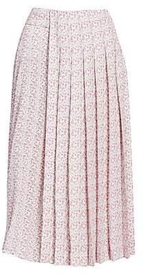 Victoria Beckham Women's Multi Pleat Midi Skirt