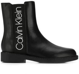 CK Calvin Klein branded chelsea boots
