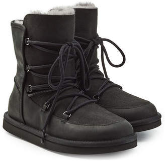 UGG Shearling-Lined Boots with Lace-Up front