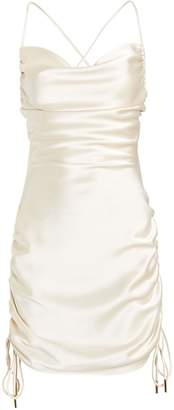 Significant Other Dusk Ruched Satin Slip Dress