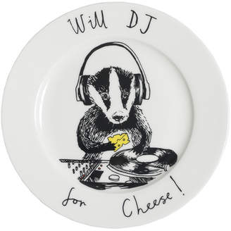 Jimbobart - 'Will DJ for cheese' Side Plate