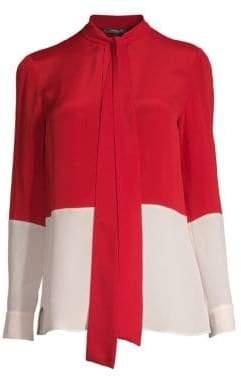 Derek Lam Bicolor Silk Blouse