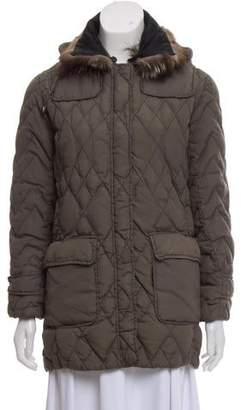 Dolce & Gabbana Fur-Trimmed Down Jacket